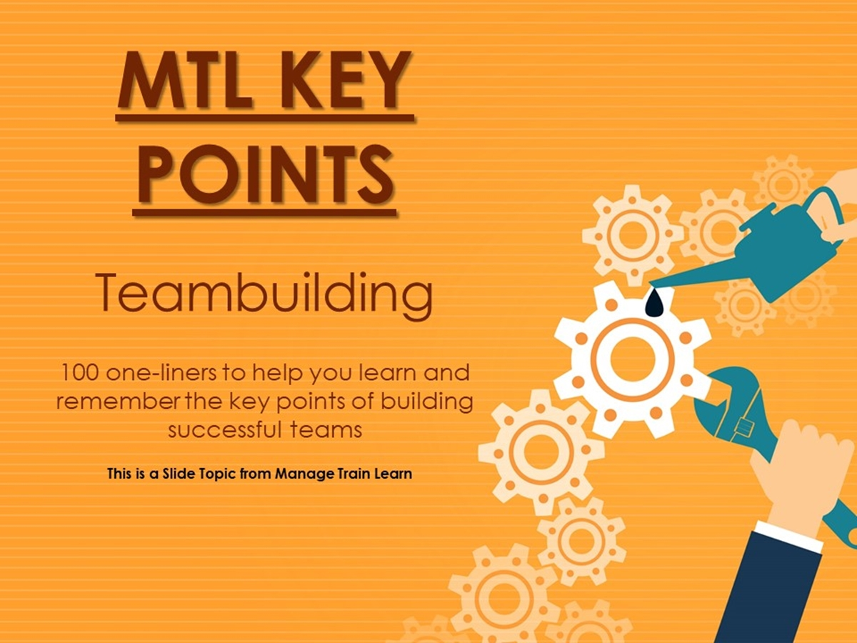 The 100 Key Points Series: Teambuilding - Slide 1++