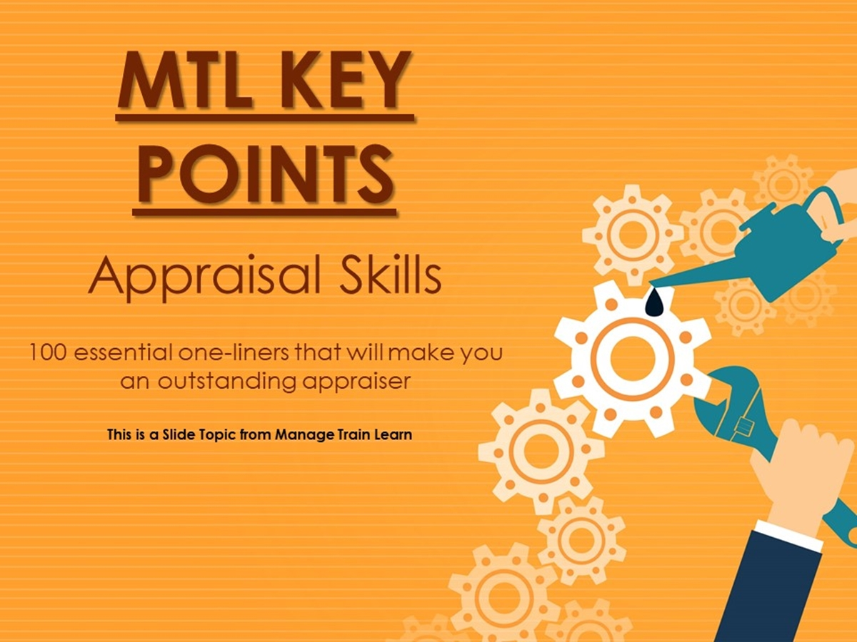 The 100 Key Points Series: Appraisal Skills - Slide 1++