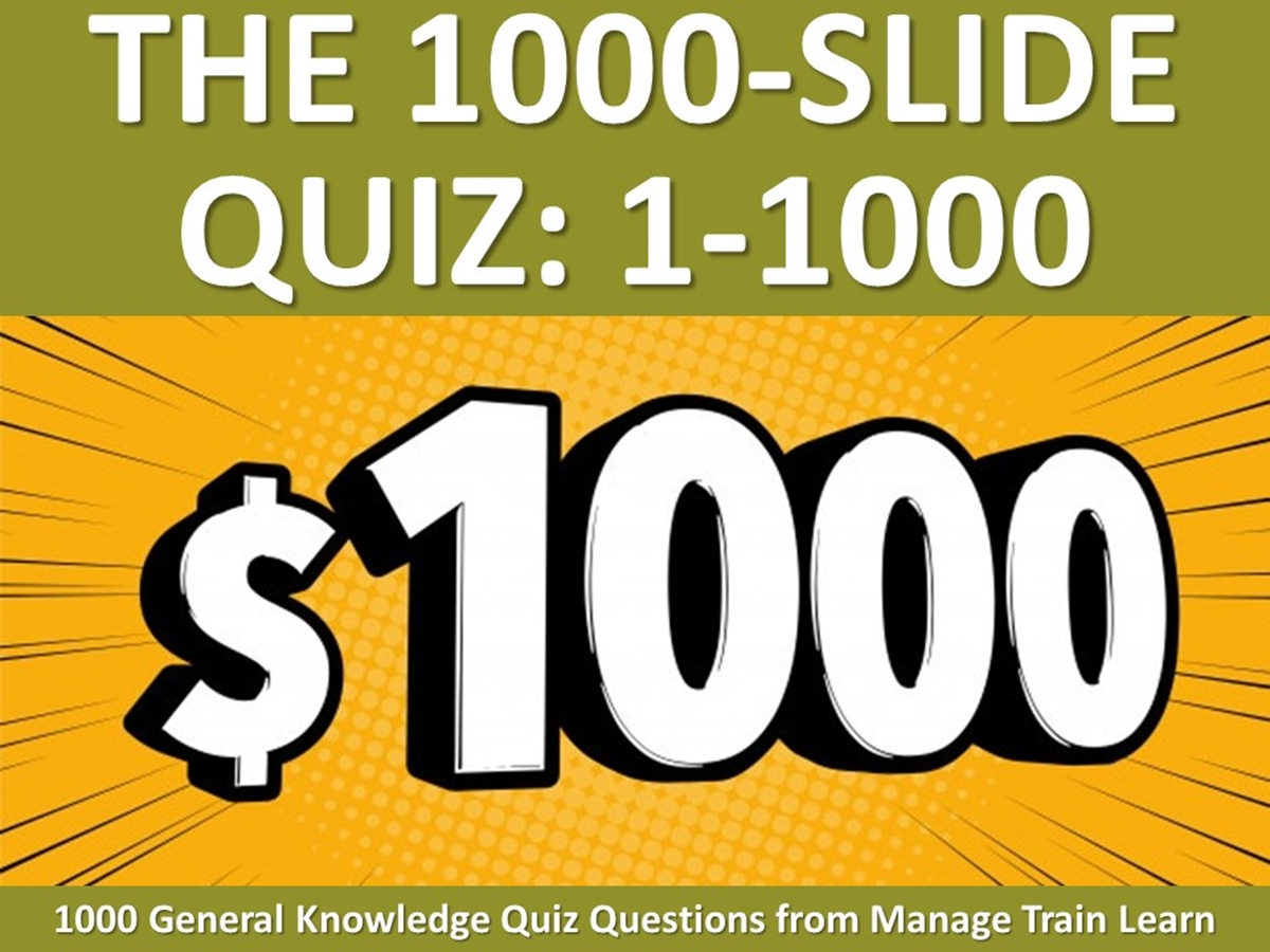 The 1000-Slide Quiz: Is This the Biggest Quiz Slide in the World? - Slide 1++