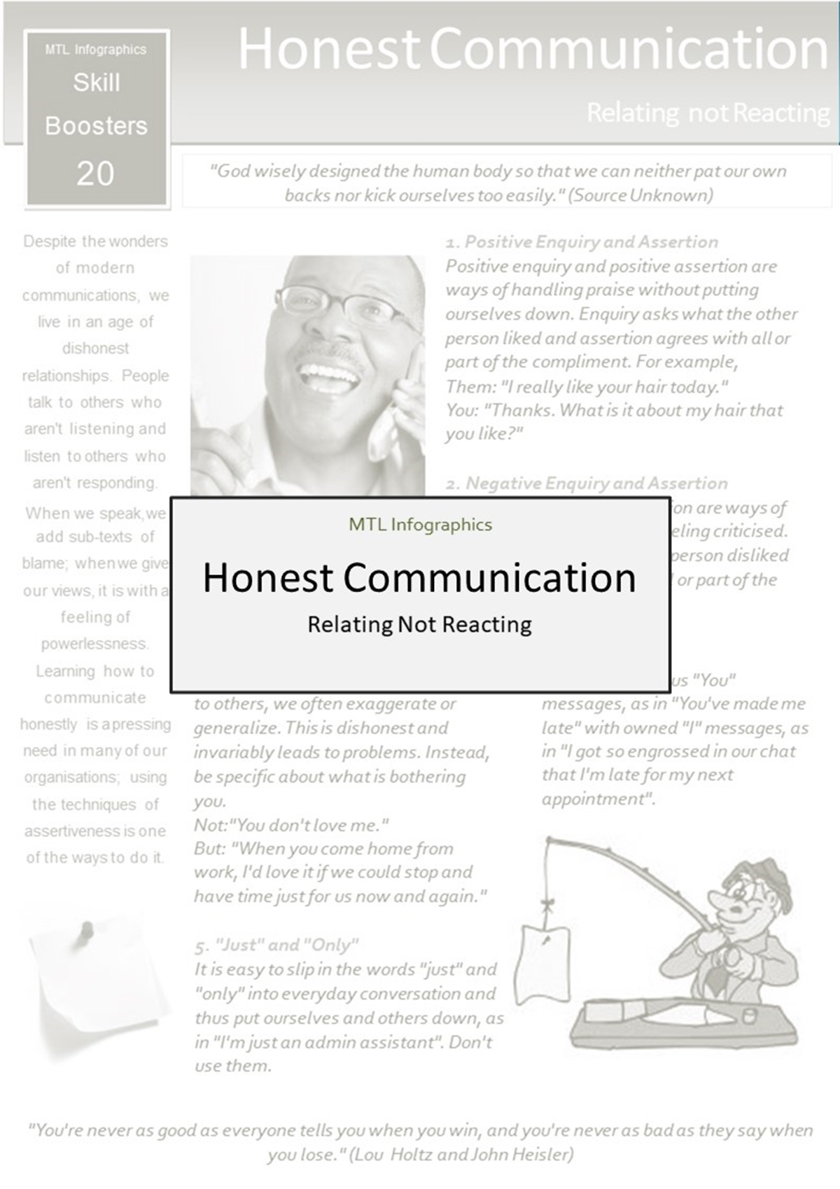 MTL Infographics Skill Boosters: 020. Honest Communication - Slide 1++