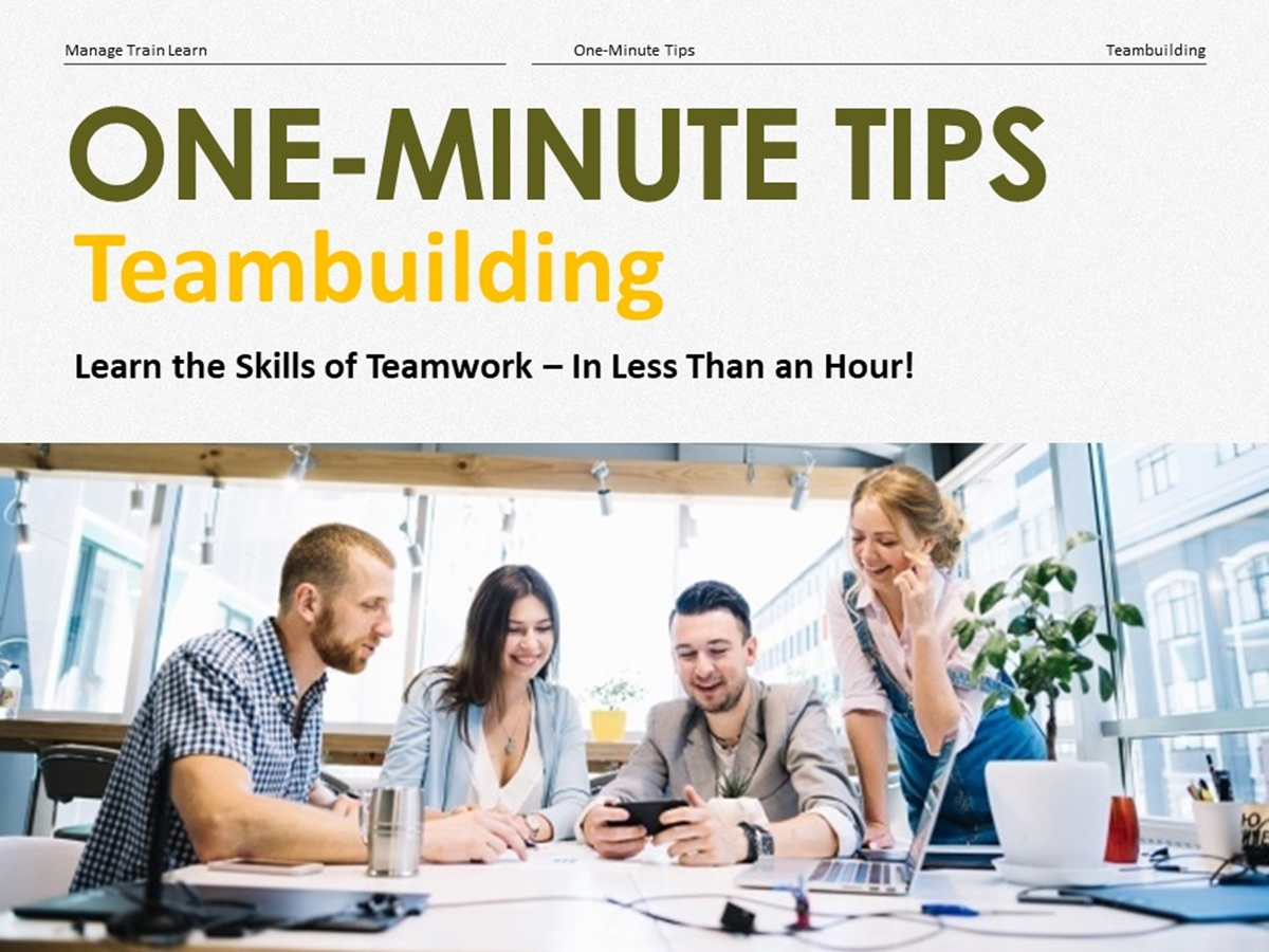 The One-Minute Tips Series: Teambuilding - Slide 1++