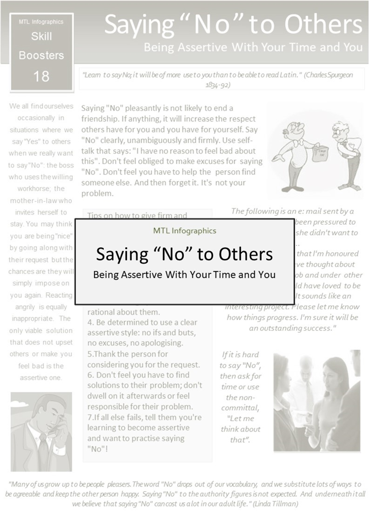 MTL Infographics Skill Boosters: 018. Saying No to Others - Slide 1++