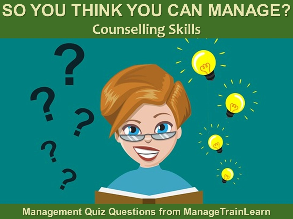 So You Think You Can Manage?: Counselling Skills - Slide 1++
