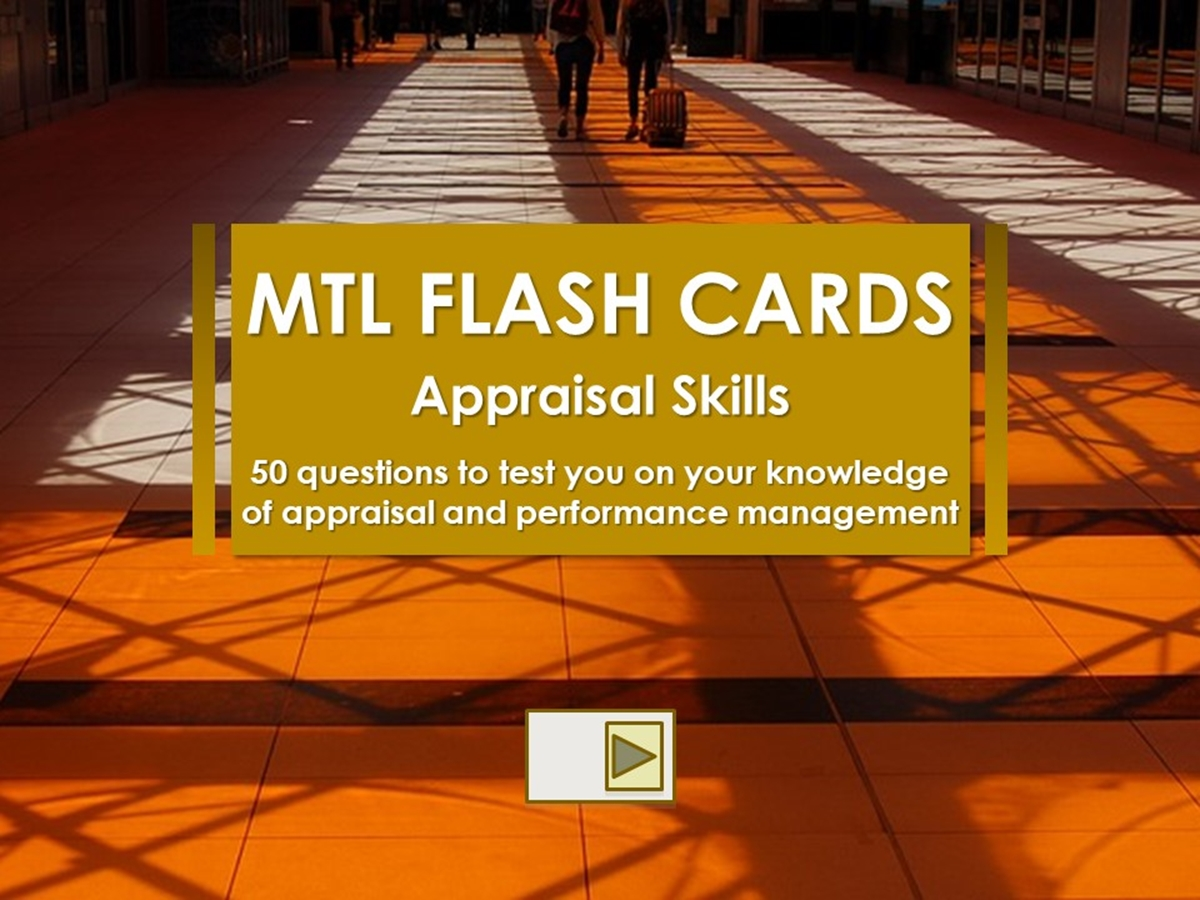 50 Flash Cards: Appraisal Skills - Slide 1++