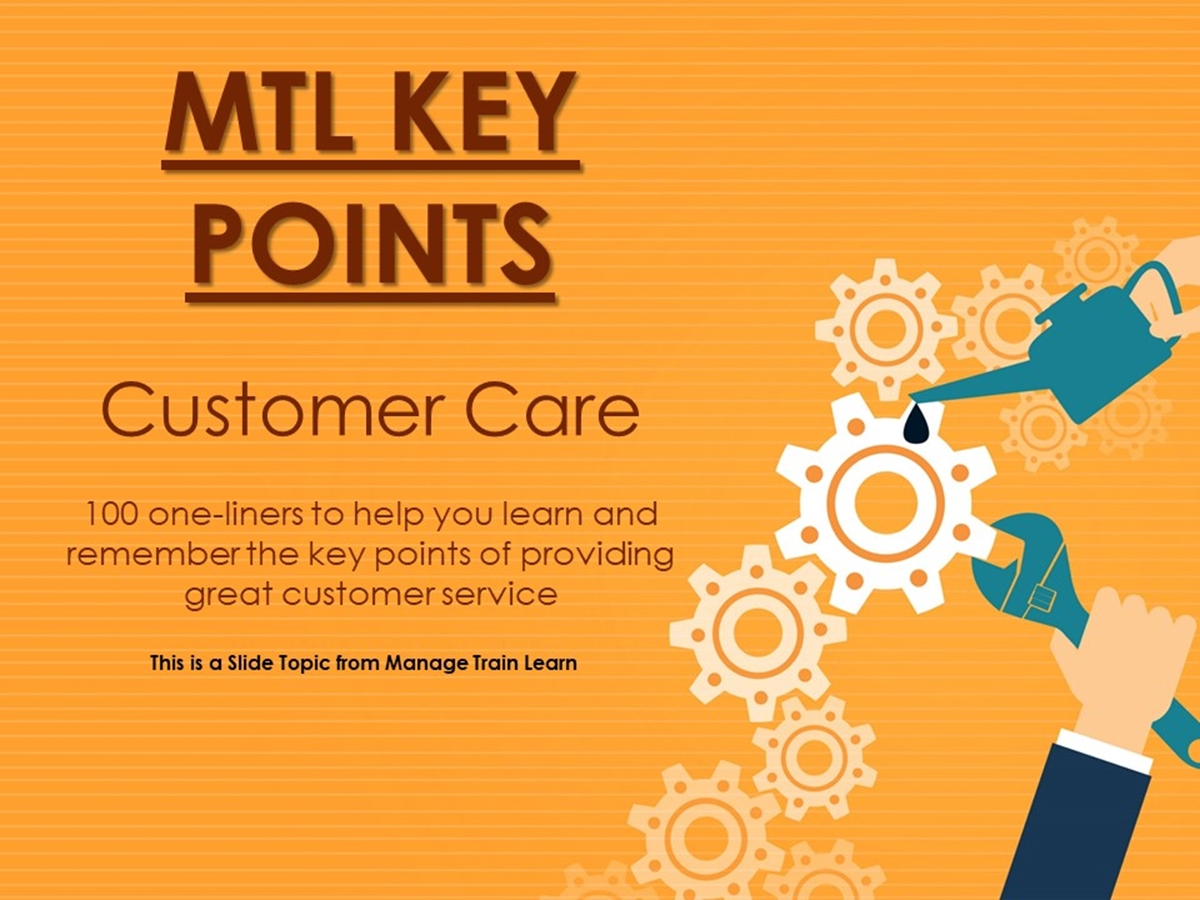 The 100 Key Points Series: Customer Care - Slide 1++