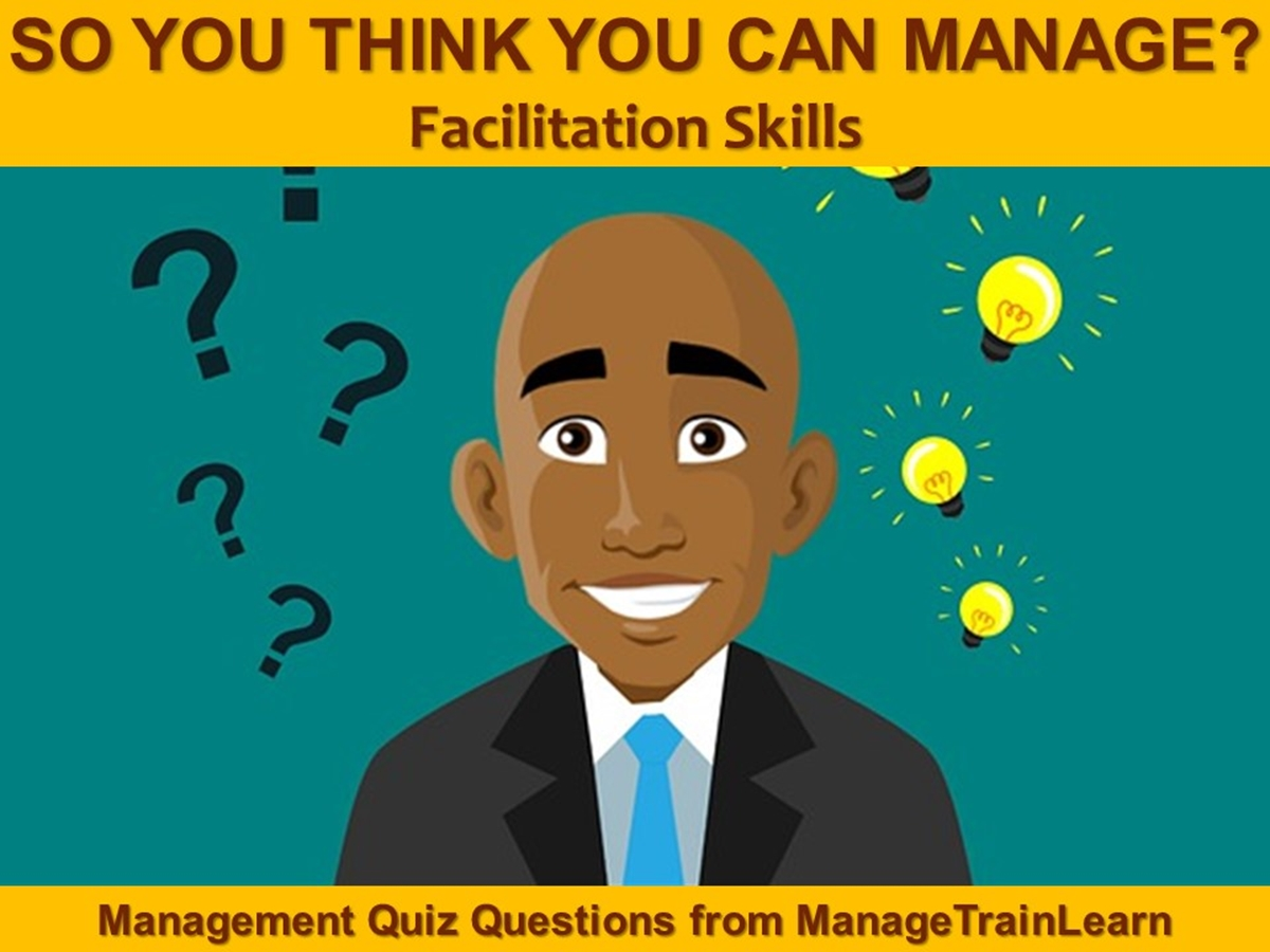 So You Think You Can Manage?: Facilitation Skills - Slide 1++