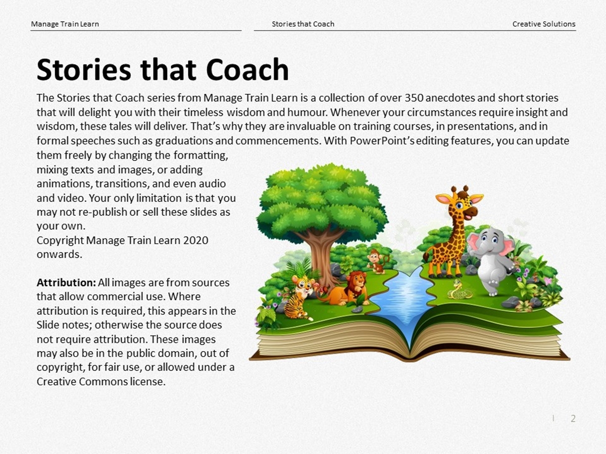 Stories that Coach: Creative Solutions - Slide 2++