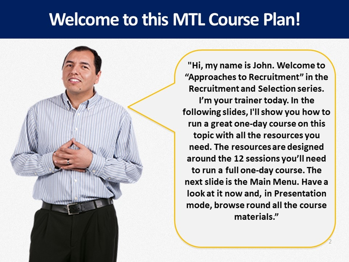 MTL Course Plans: Approaches to Recruitment - Slide 2++