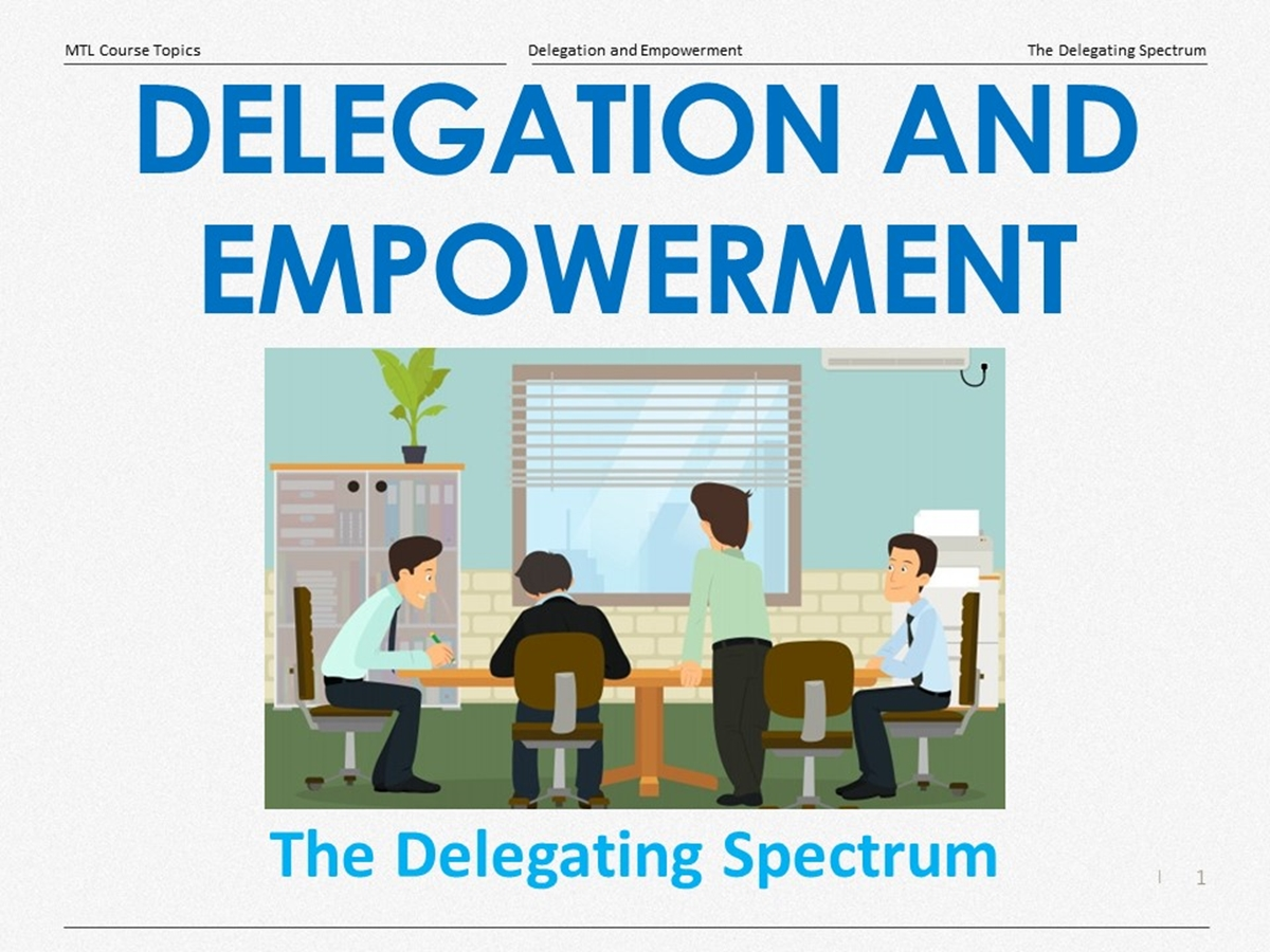 Course Topics: The Delegating Spectrum - Slide 1++