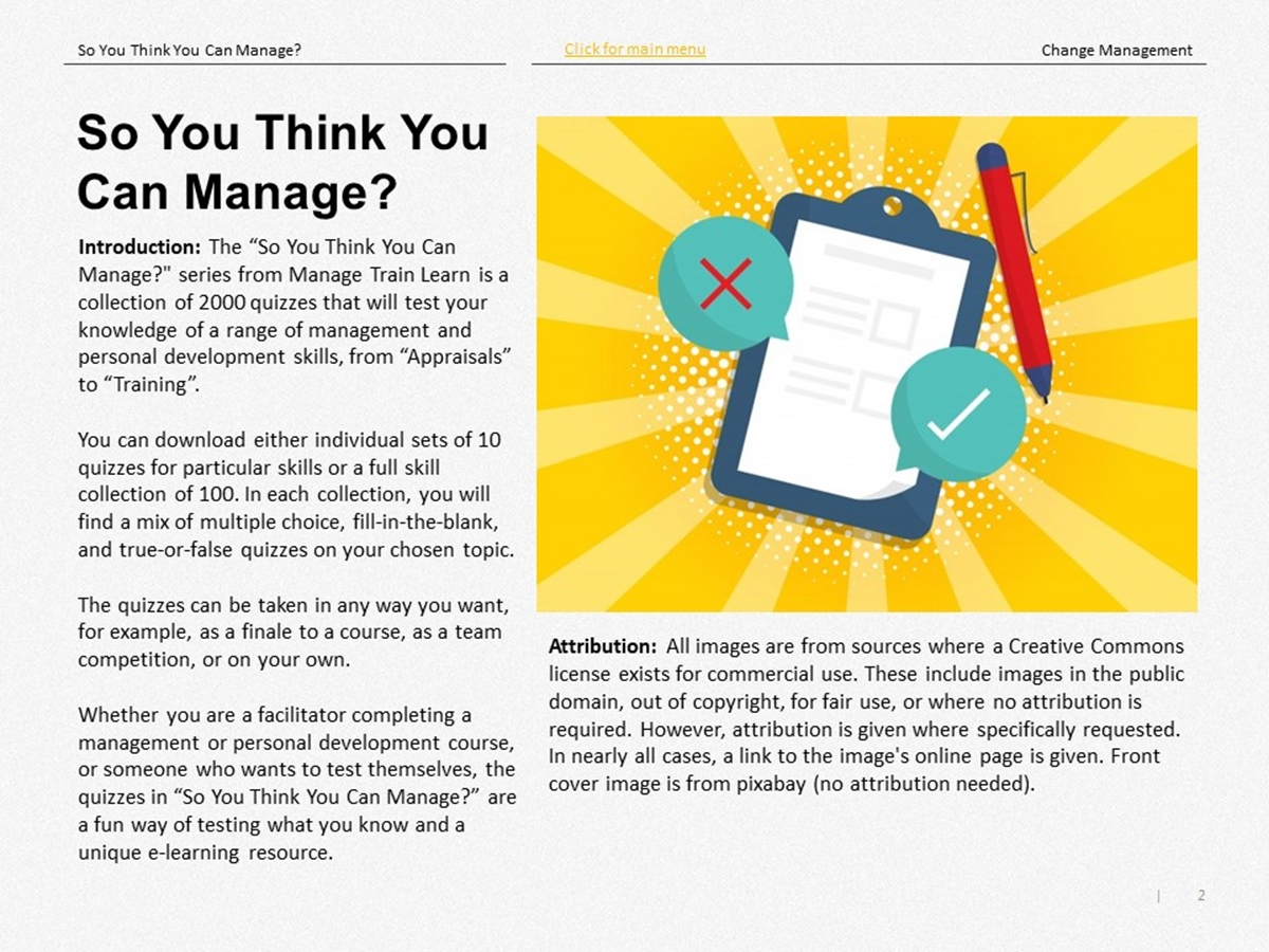 So You Think You Can Manage?: Change Management - Slide 2++