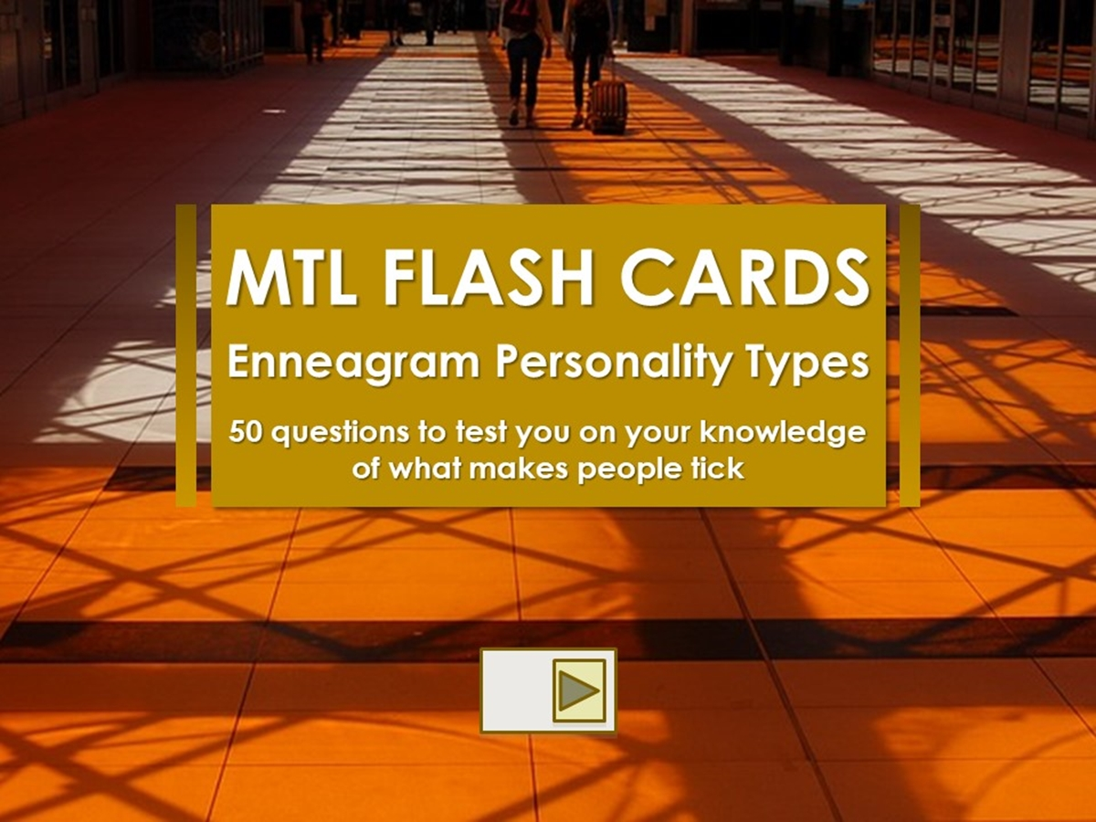 Flash Cards: Enneagram Personality Types - Slide 1++