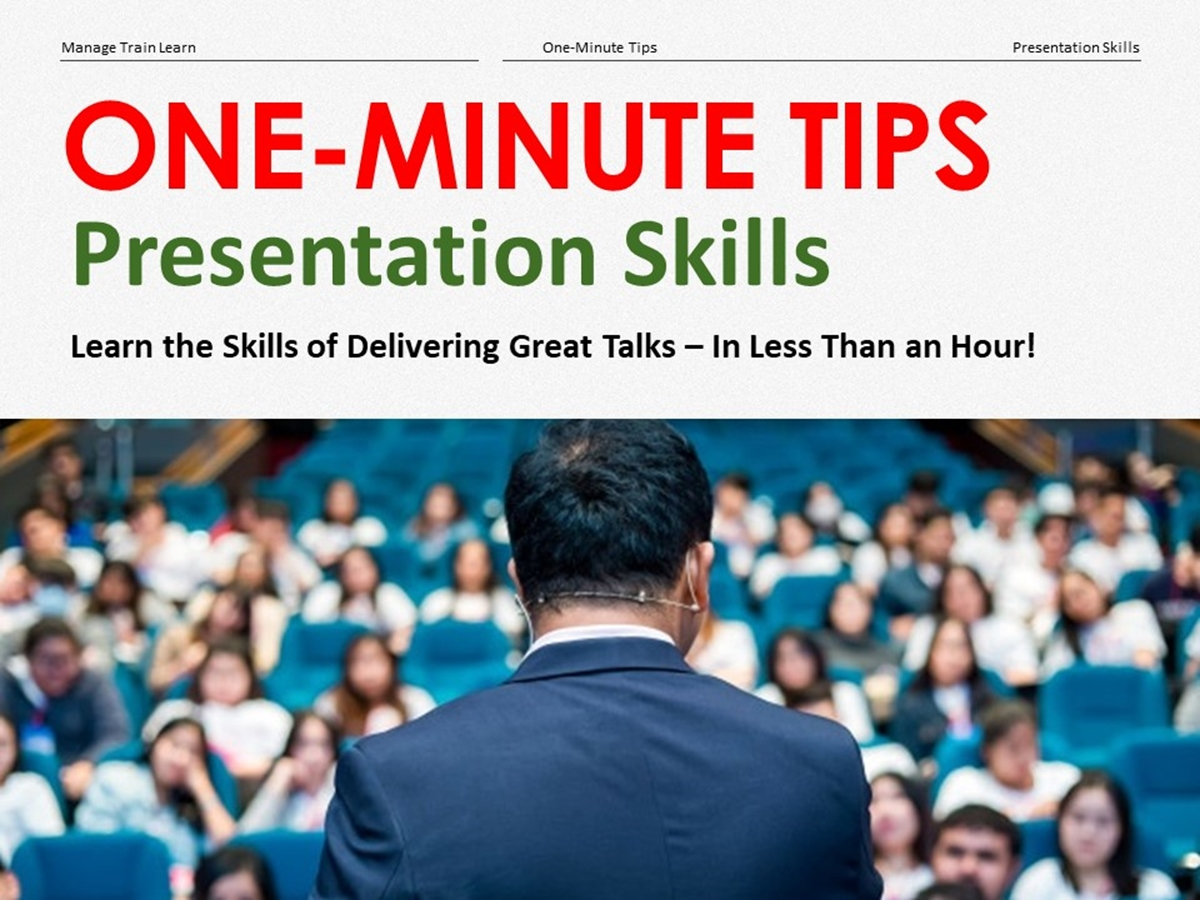 The One-Minute Tips Series: Presentation Skills - Slide 1++