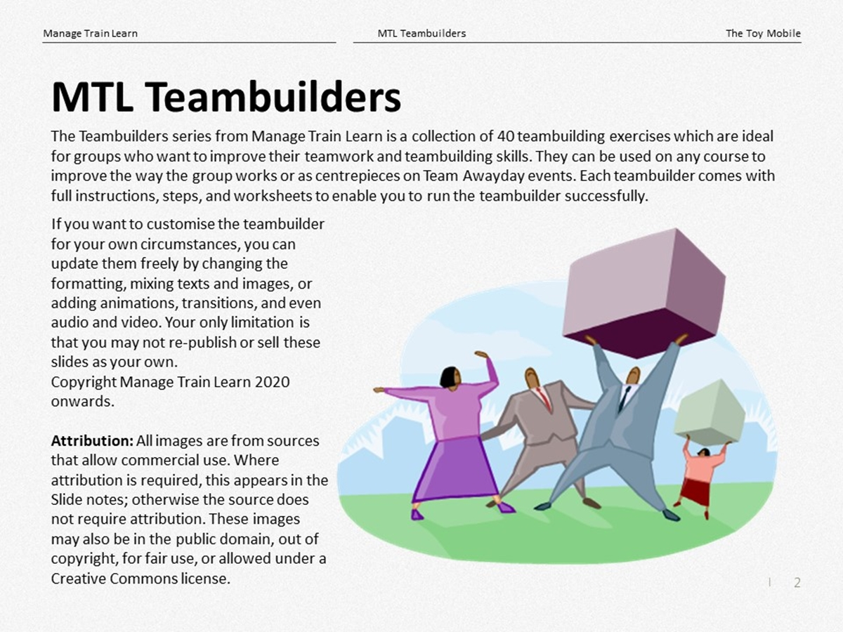 Teambuilders: 26. The Toy Mobile - Slide 2++