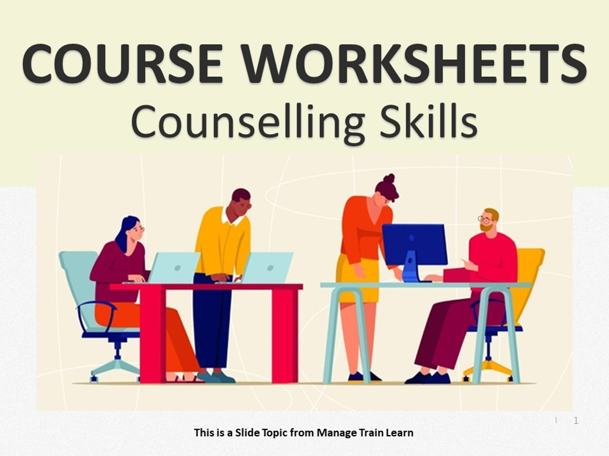 Worksheets: Counselling Skills - Slide 1++