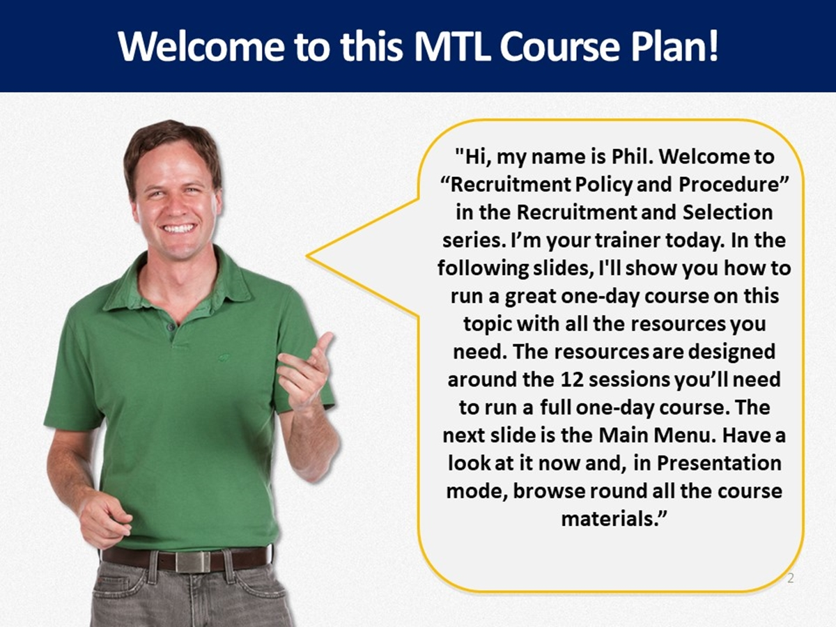 MTL Course Plans: Policy and Procedure in Recruitment - Slide 2++