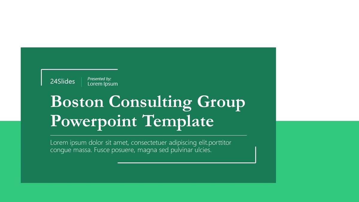Boston Consulting Group - Slide 1++