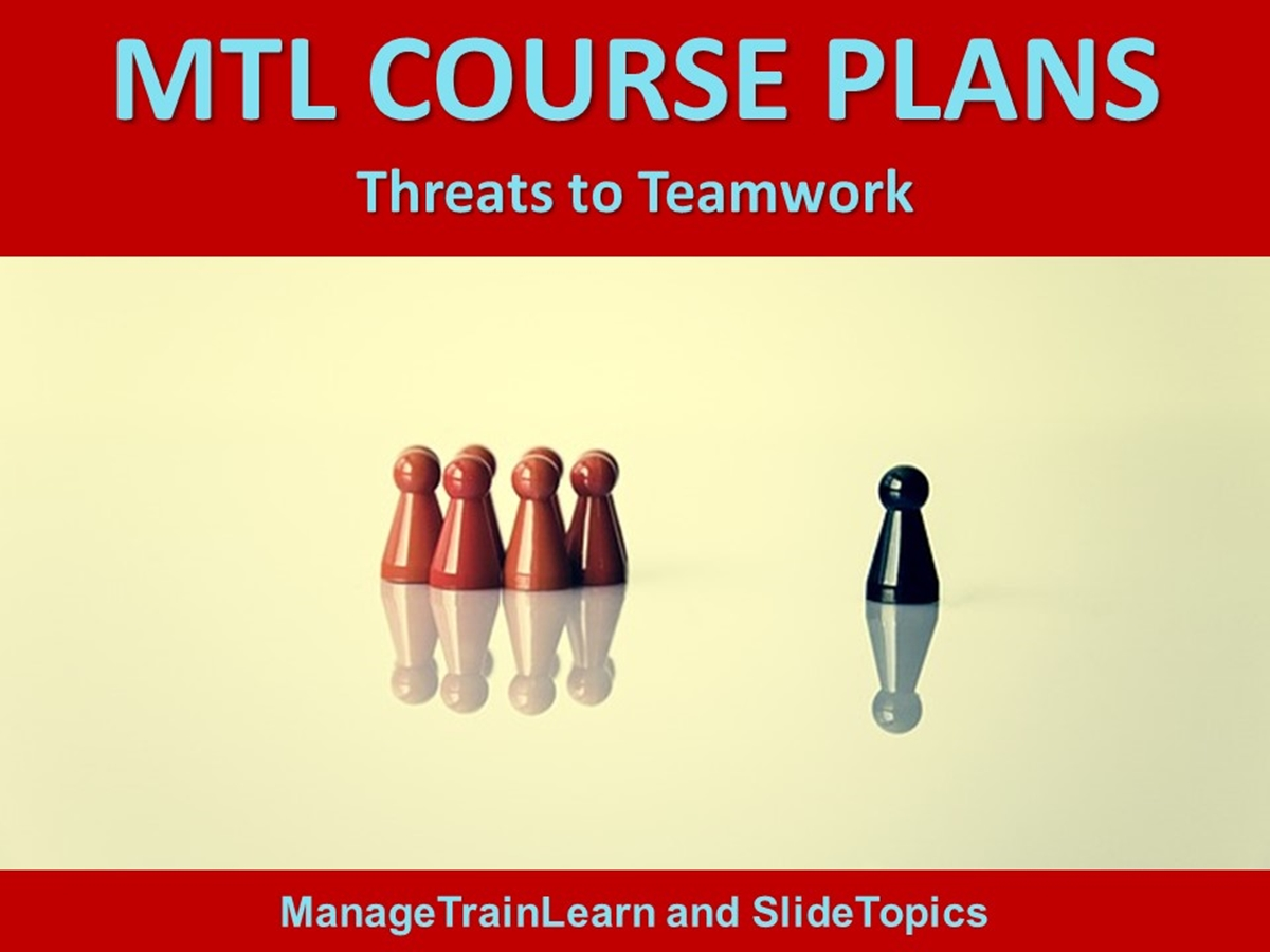 MTL Course Plans: Teambuilding: 05. Threats to Teamwork - Slide 1++