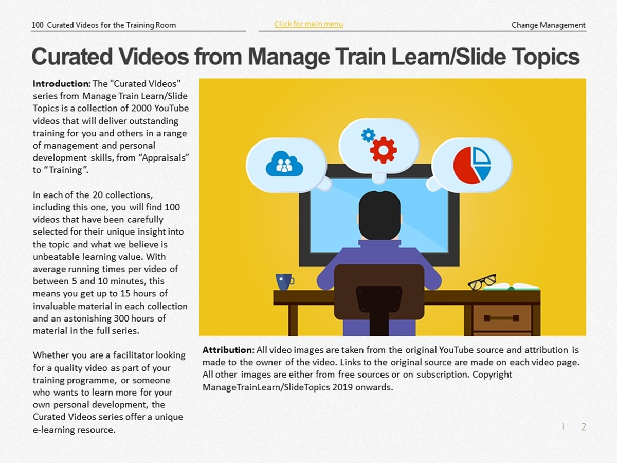 The 100 Curated Videos Series: Change Management - Slide 2++