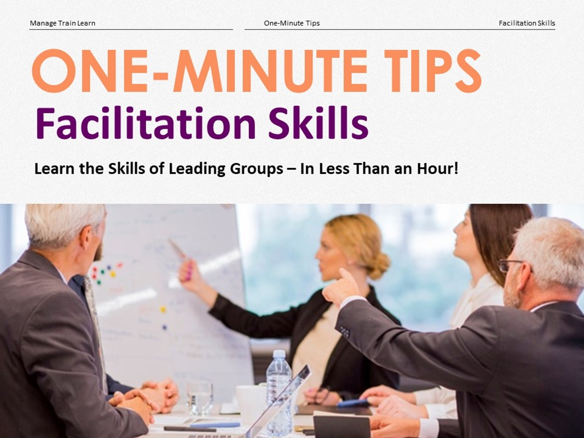 The One-Minute Tips Series: Facilitation Skills - Slide 1++