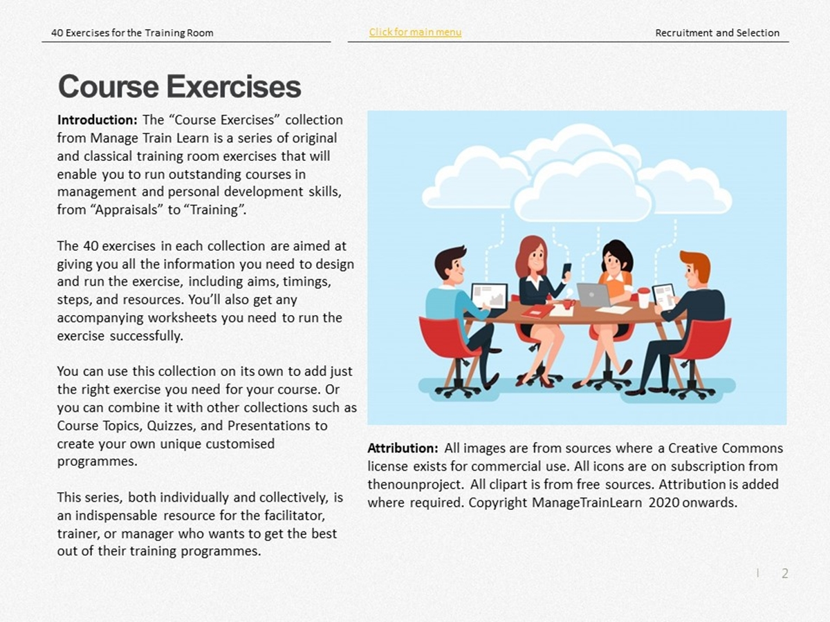 Exercises: Recruitment and Selection - Slide 2++