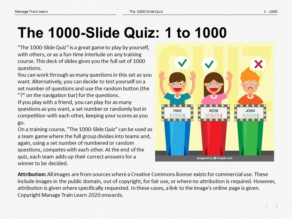 The 1000-Slide Quiz: Is This the Biggest Quiz Slide in the World? - Slide 2++