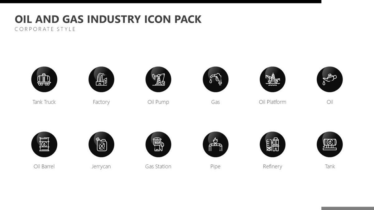 Oil and Gas Icons - Slide 1++