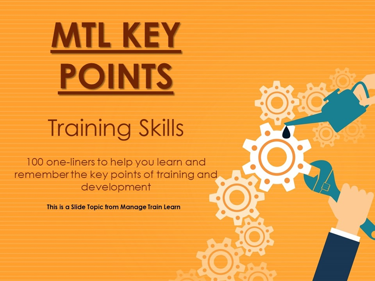 The 100 Key Points Series: Training Skills - Slide 1++