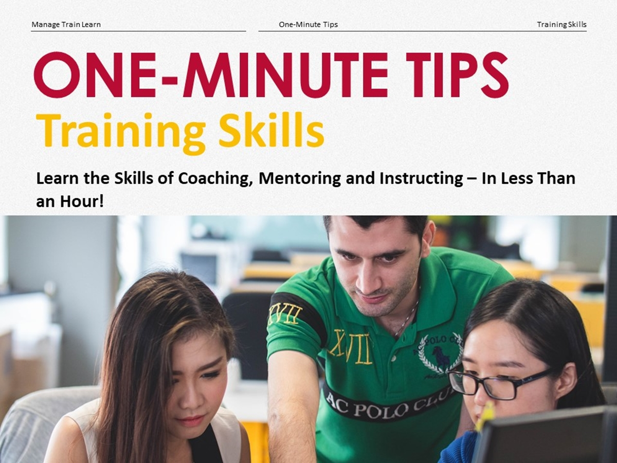 One-Minute Tips: Training Skills - Slide 1++