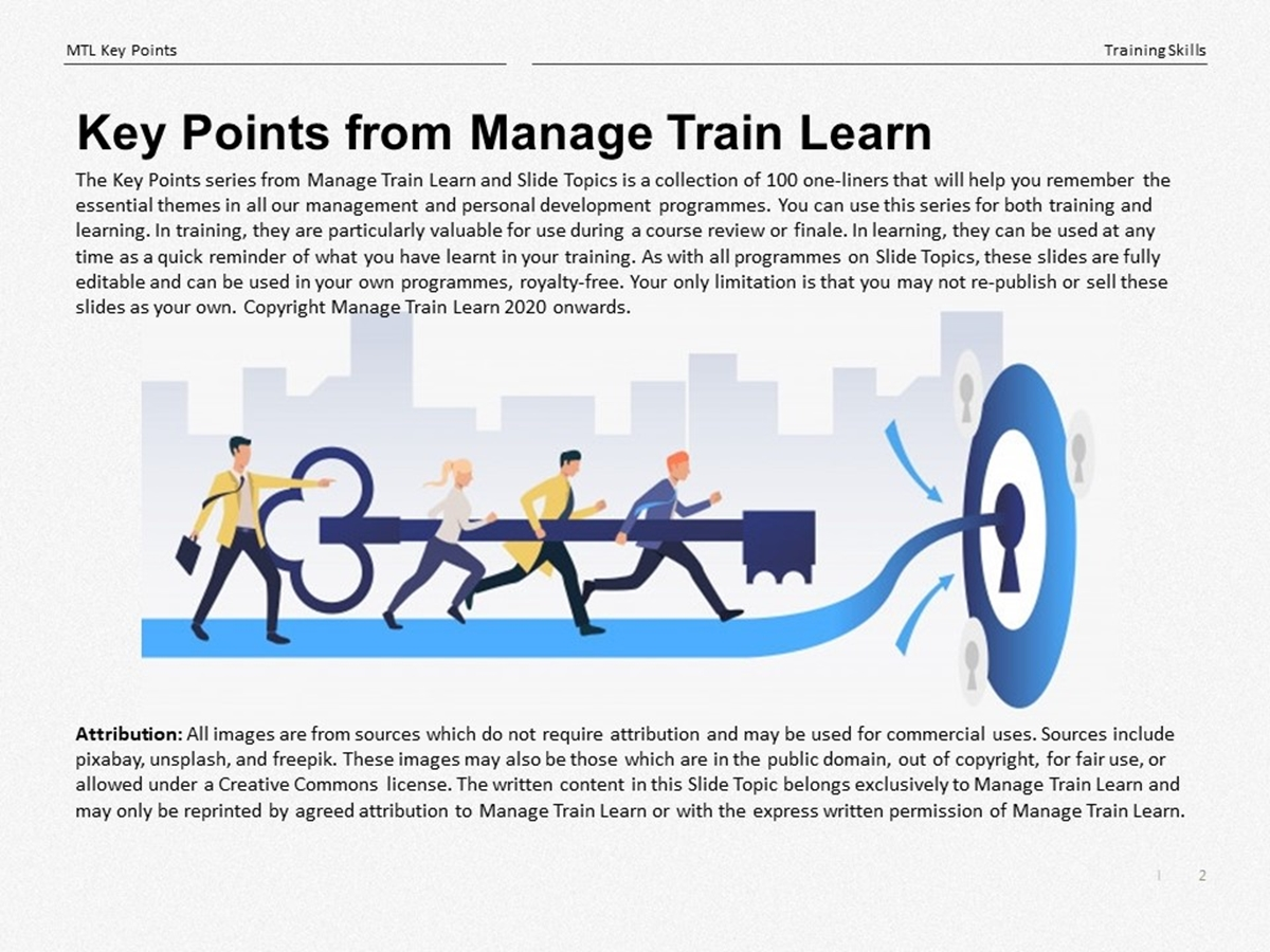 The 100 Key Points Series: Training Skills - Slide 2++