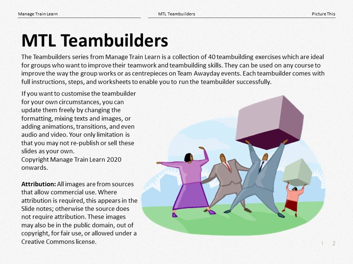 Teambuilders: 10. Picture This - Slide 2++