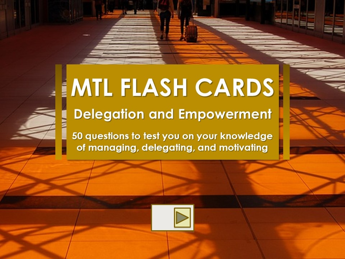 Flash Cards: Delegation and Empowerment - Slide 1++