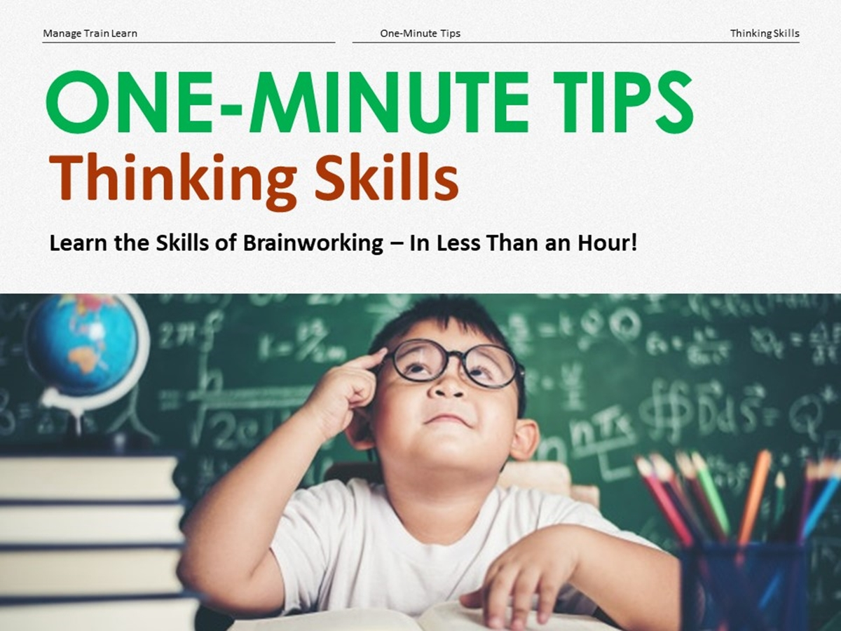 One-Minute Tips: Thinking Skills - Slide 1++