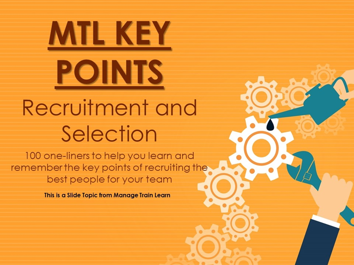 The 100 Key Points Series: Recruitment and Selection - Slide 1++