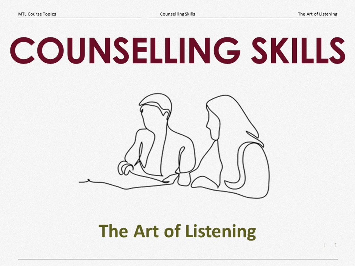 Course Topics: The Art of Listening - Slide 1++