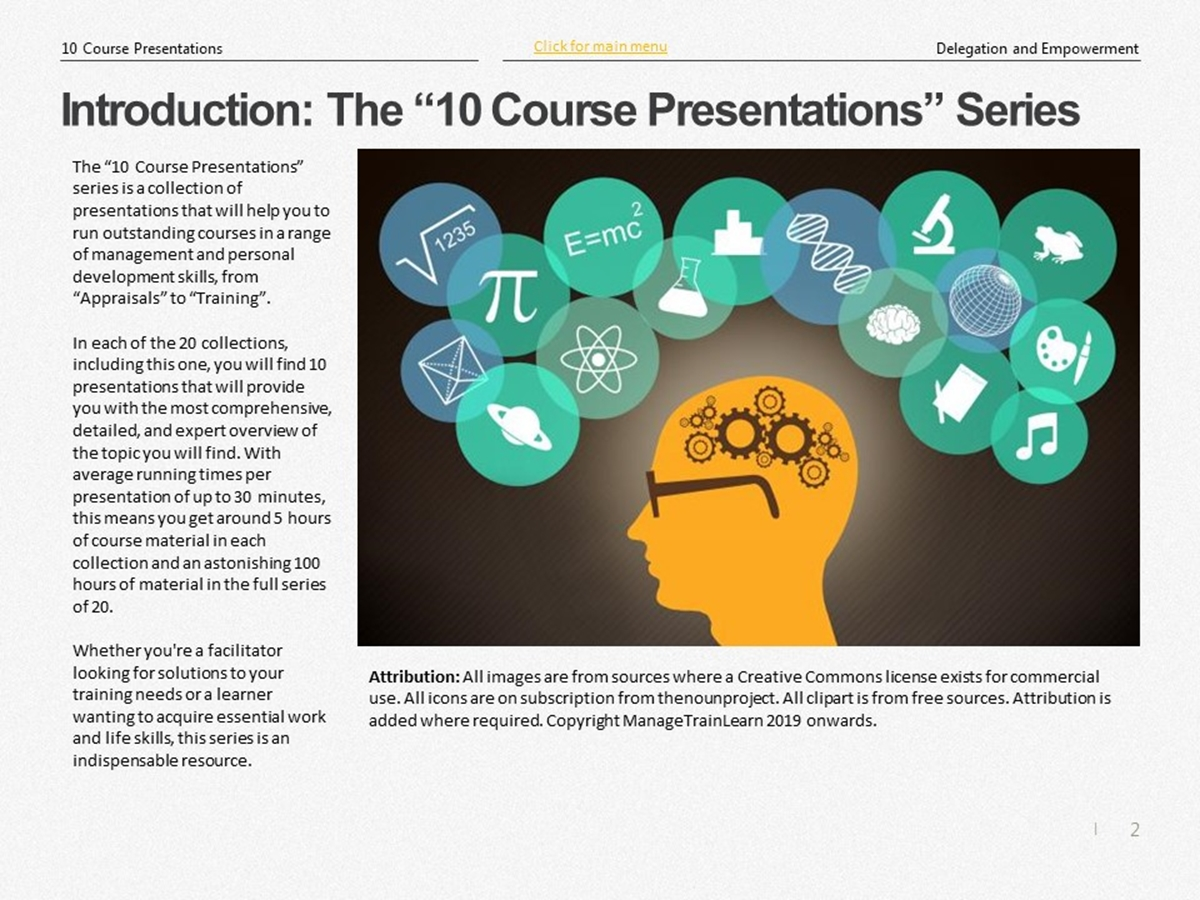 The 10 Course Presentations Series: Delegation and Empowerment - Slide 2++
